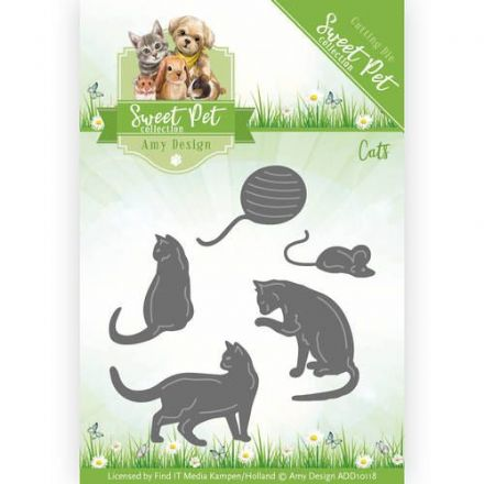 ADD10118 ~ Pets Cutting Die ~ Cats ~ Amy Design